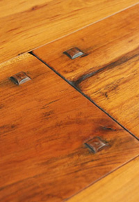 Authentic Hand Scraped Cherry Flooring with Wooden Pegs